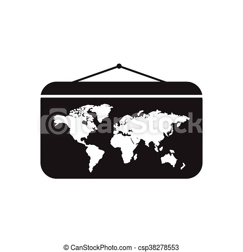 Flat icon in black and white world map flat icon in black flat icon in black and white world map csp38278553 gumiabroncs Image collections