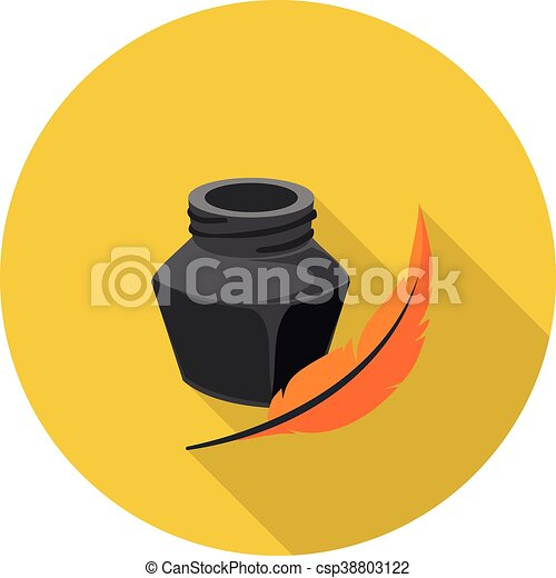 flat icon ink - csp38803122