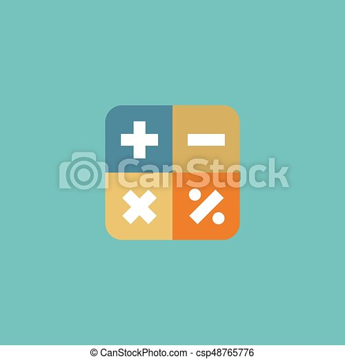 Flat Icon Math Element Vector Illustration Of Flat Icon Algebra