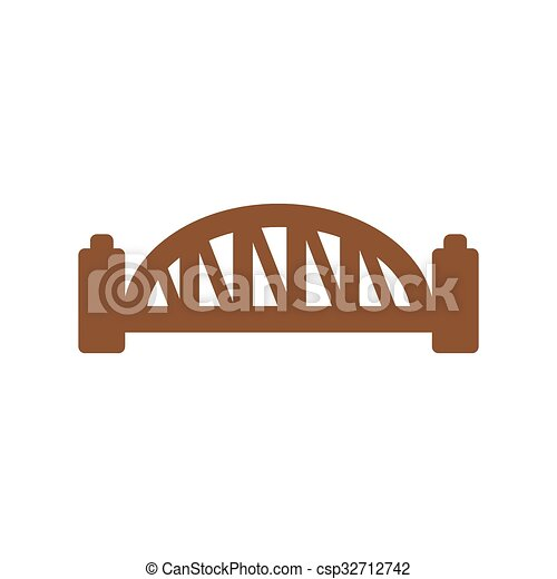 flat icon on white background Sydney Harbour Bridge - csp32712742