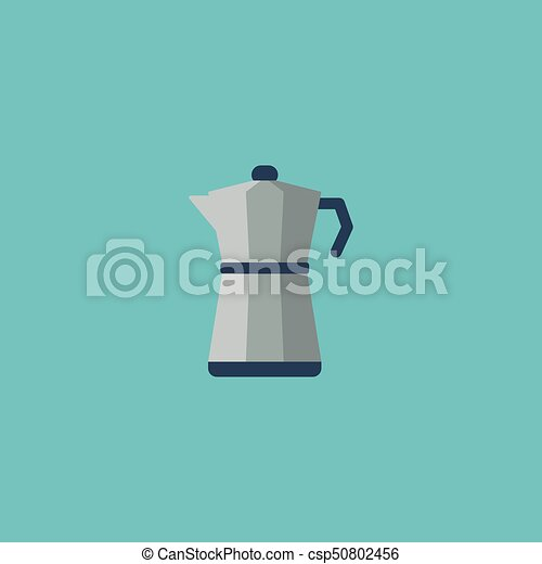 Flat Icon Percolator Element  Vector Illustration Of Flat Icon Moka Pot  Isolated On Clean Background  Can Be Used As Percolator, Coffee And Maker