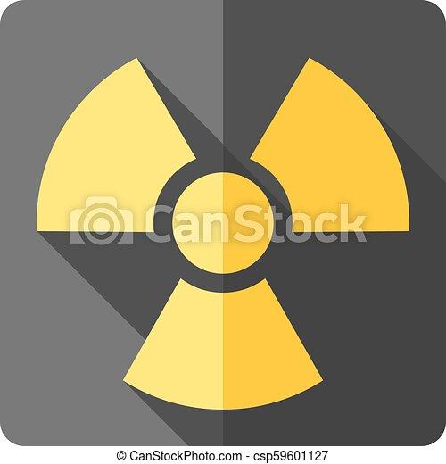 Flat Icon Radioactive Symbol Radioactive Symbol Icon In Flat
