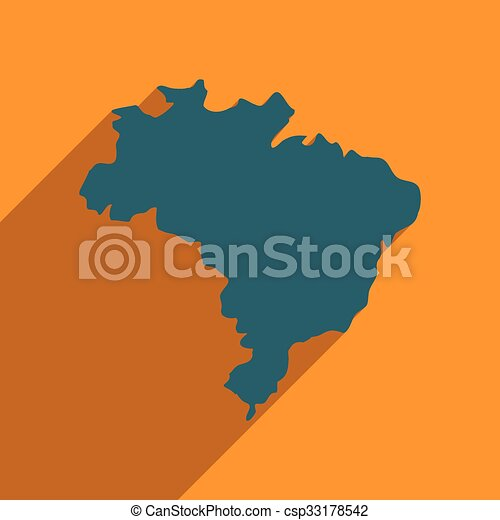 Flat icon with long shadow map of brazil eps vector search clip flat icon with long shadow map of brazil csp33178542 gumiabroncs Image collections