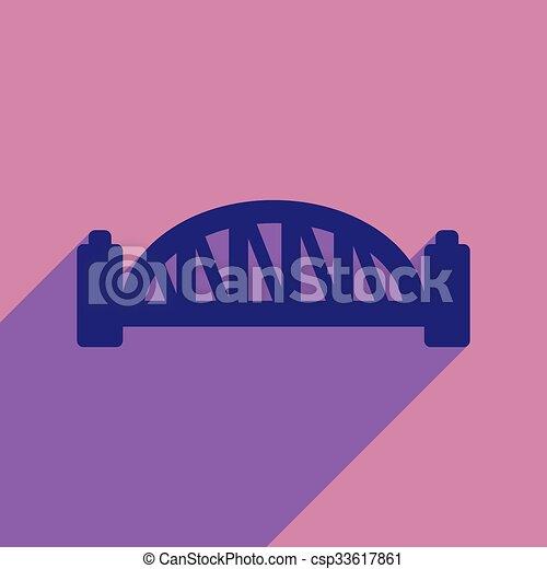 flat icon with long shadow Sydney Harbour Bridge - csp33617861
