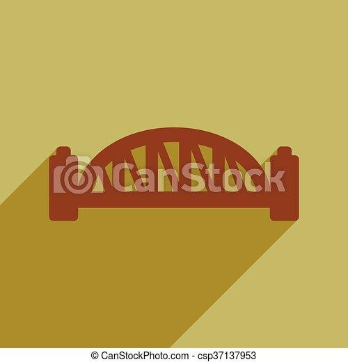 flat icon with long shadow Sydney Harbour Bridge - csp37137953