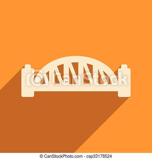flat icon with long shadow Sydney Harbour Bridge - csp33178524