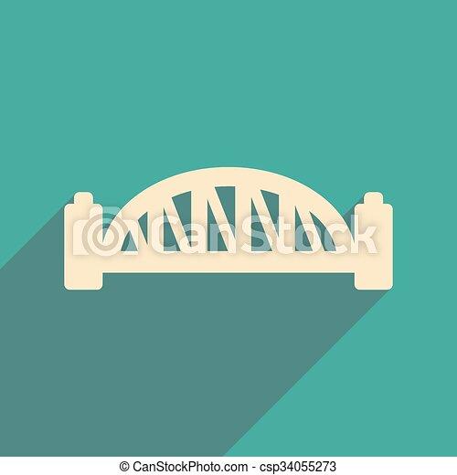 flat icon with long shadow Sydney Harbour Bridge - csp34055273