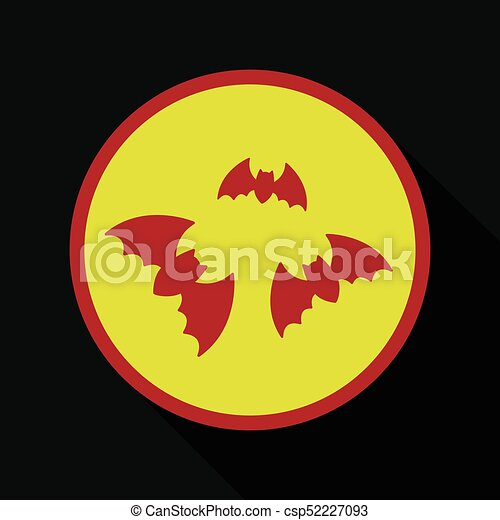 Flat icon with shadow bats - csp52227093