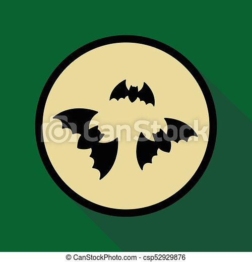 Flat icon with shadow bats - csp52929876