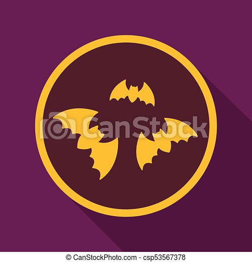 Flat icon with shadow bats - csp53567378