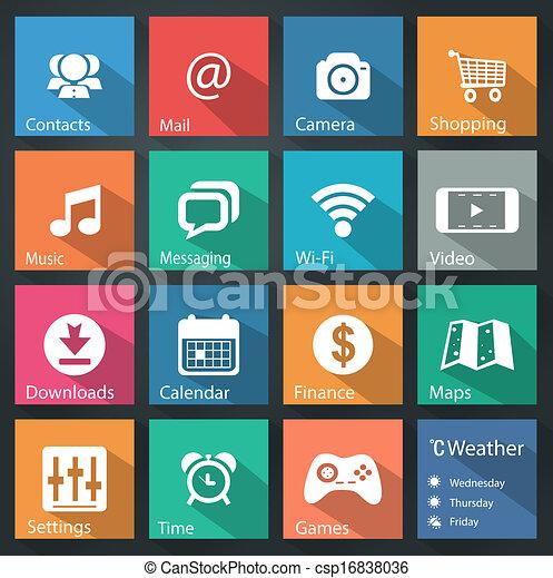 Flat icons - csp16838036