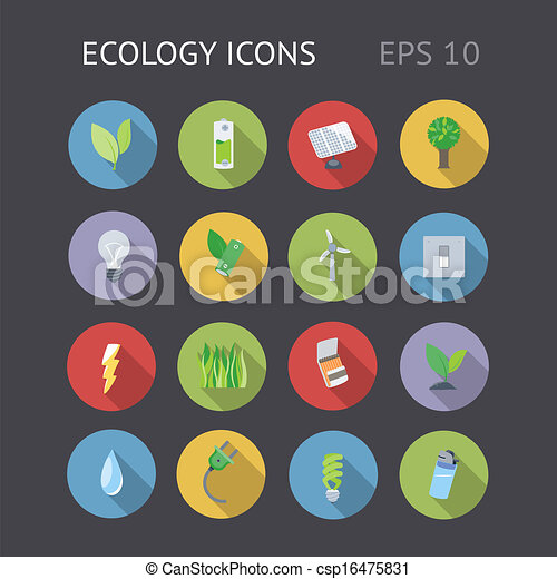 Flat Icons For Ecology - csp16475831