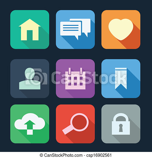Flat Icons for Web and Mobile Applications - csp16902561