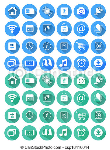 Flat icons for web and mobile applications - csp18416044
