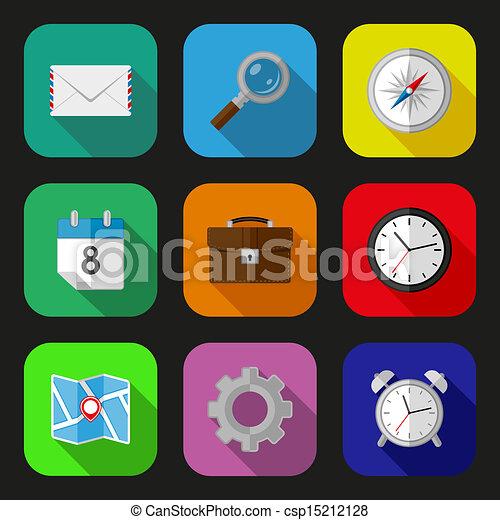 Flat icons set - csp15212128