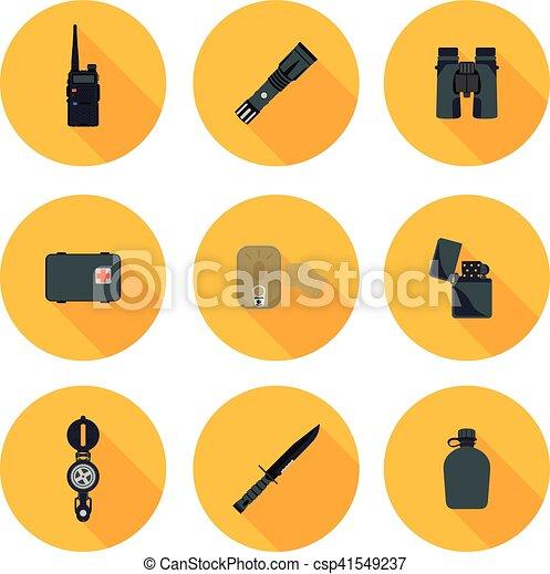 flat icons set of survival - csp41549237