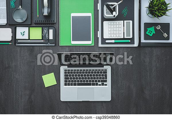 flat lay business desktop flat lay corporate business desktop with