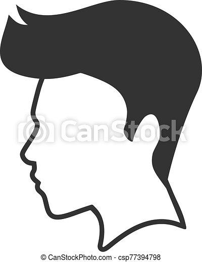 flat man face draw - csp77394798