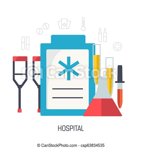 flat medical laboratory icons illustration infographic concept. Vector background design. Template for website and mobile appliance. - csp63834535