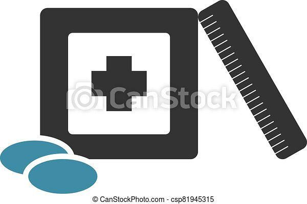 flat medicine draw - csp81945315