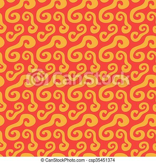 flat napkin - csp35451374