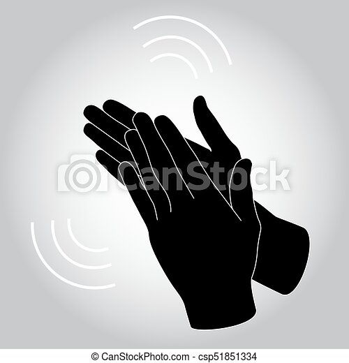 flat oncept of success applause hands clapping vector