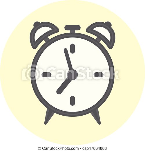 flat outline alarm clock icon time symbol flat gray outline alarm