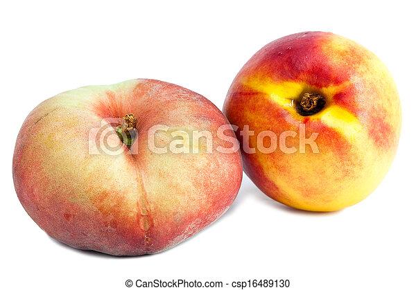 flat peach and nectarine - csp16489130