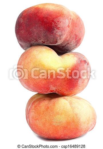 flat peach on a white background - csp16489128