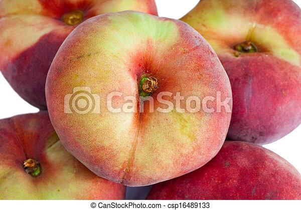 flat peach on a white background - csp16489133