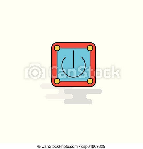 Flat Power button Icon. Vector - csp64869329
