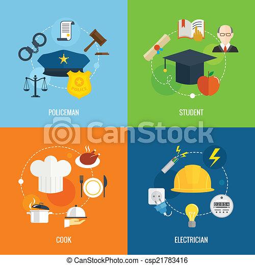 Flat profession compositions - csp21783416