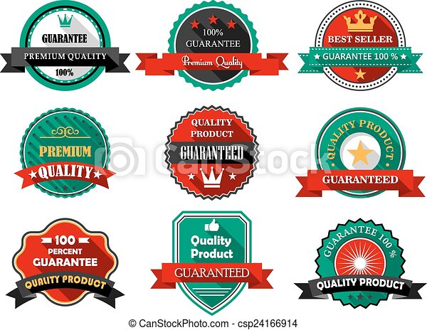 flat quality and guarantee labels premium quality and vector rh canstockphoto ie vector label shapes vector label art nouveau