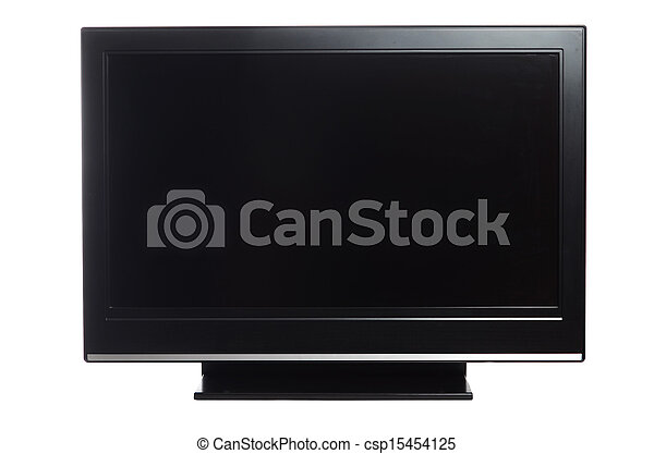 flat screen tv isolated on white - csp15454125