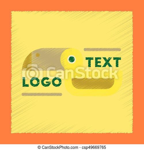 flat shading style icon bird logo - csp49669765