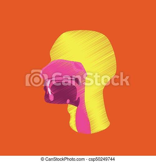 flat shading style icon pharynx - csp50249744