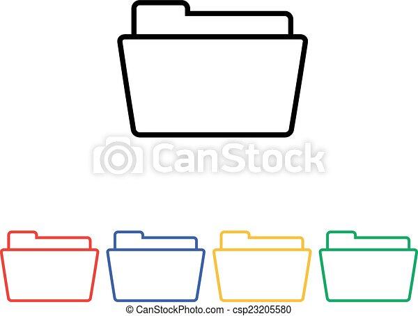 Flat simple folder icon - csp23205580