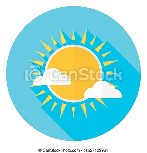 flat sky sun and clouds circle icon with long shadow vector clip rh canstockphoto com clip art skyscrapers clip art skiing