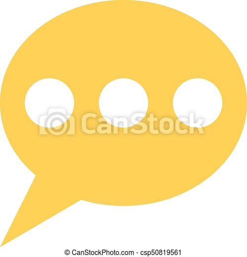 Flat Speech Bubble Icon Chat Room Sign Button Flat Speech Bubble