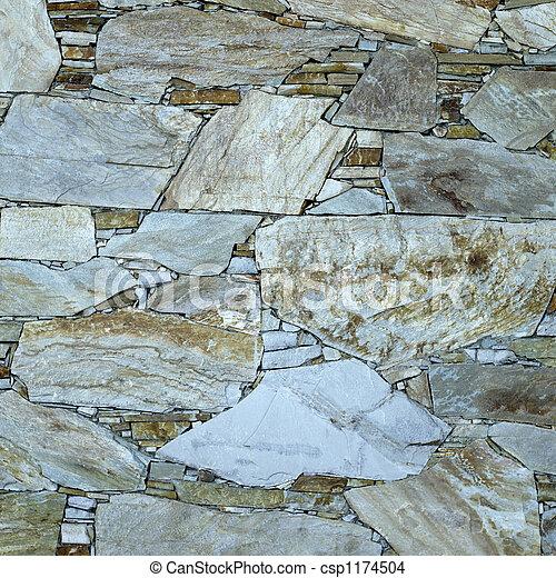 flat stone wall - csp1174504