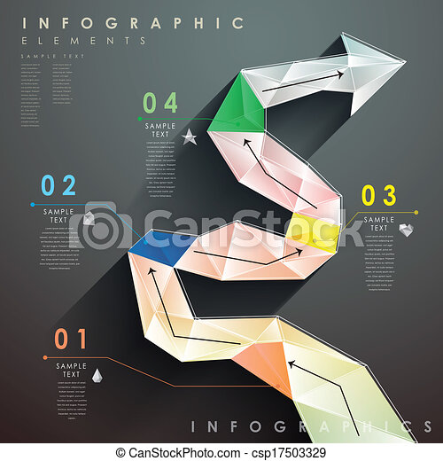 Flat Style Abstract Flow Chart Infographics Flat Design Vector