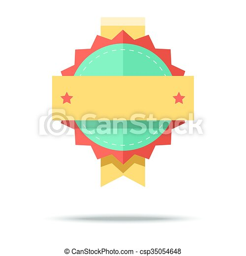 Flat style badge icon. Vector illustration with simple design - csp35054648
