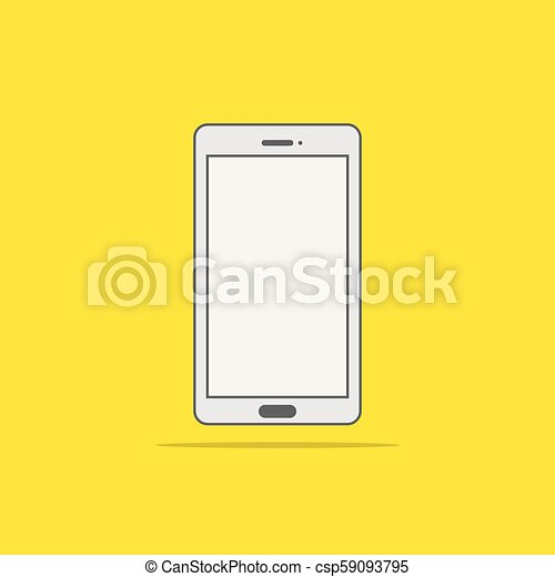 Flat style icon of phone vector illustration - csp59093795