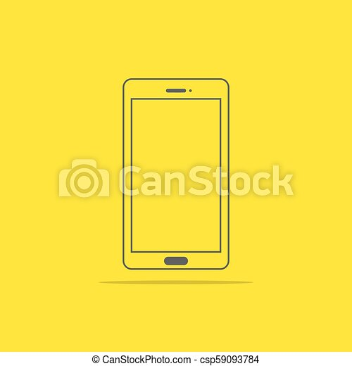 Flat style icon of phone vector illustration - csp59093784