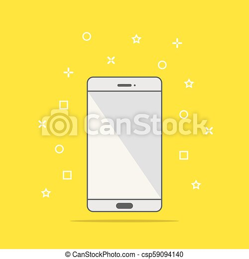 Flat style icon of phone vector illustration - csp59094140