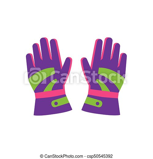 Flat style pair of skiing, snowboarding gloves - csp50545392