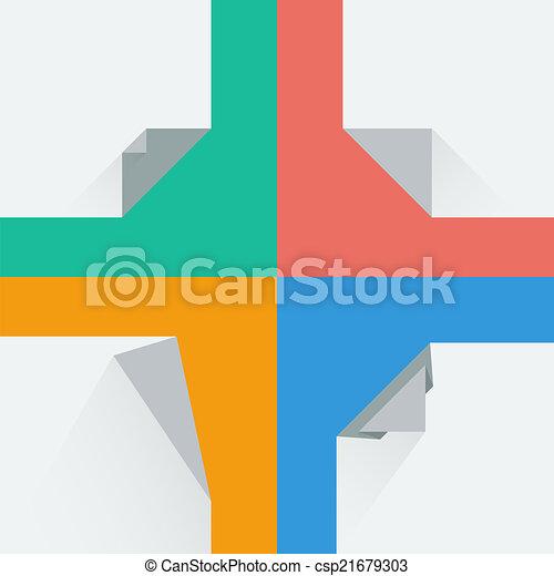 Flat Style Paper Corners Vector Illustration - csp21679303