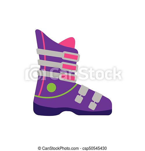 Flat style skiing snowboarding boot, side view - csp50545430