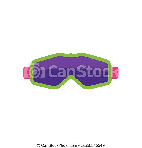 Flat style skiing, snowboarding mask, goggles - csp50545549