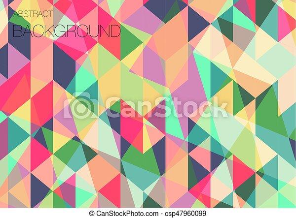 Flat Triangle Geometric Wallpaper